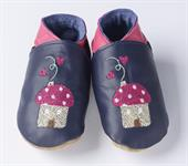 Buy Handmade Soft Leather Shoes- Toadstool design Online
